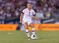 PASADENA, CA - AUGUST 4: Abby Dahlkemper #7 dribbles during a game between Ireland and USWNT at Rose Bowl on August 3, 2019 in Pasadena, California.