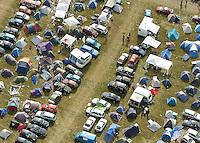 With Full Force XIV Festival - Vom 29.6. bis 2.7. 2007 zog das größte Metal-Festival wieder zehntausende Metaller ins beschauliche Roitzschjora. im Bild: Metaller-Camping von oben betrachtet..Foto: Norman Rembarz..aif.....action-in-focus.de..Talstr. 25.04103 Leipzig..phone:  01794887569.mail:  public@action-in-focus.de..