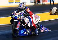 Jul. 26, 2013; Sonoma, CA, USA: NHRA pro stock rider Hector Arana Sr during qualifying for the Sonoma Nationals at Sonoma Raceway. Mandatory Credit: Mark J. Rebilas-