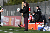 Elisabetta Bavagnoli coach of AS Roma reacts during the Women Italy cup round of 8 second leg match between AS Roma and Florentia S.G. at stadio delle tre fontane, Roma, February 14, 2021. Photo Andrea Staccioli / Insidefoto