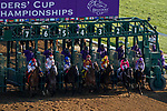 November 6, 2020: Horses race during the Juvenile Fillies on Breeders' Cup Championship Friday at Keeneland on November 6, 2020: in Lexington, Kentucky. John Voorhees/Eclipse Sportswire/Breeders Cup/CSM