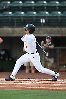 Robert Moore (1) (Arkansas) of Team Stars during a game against Team Stripes on July 6, 2021 at Pioneer Park in Greeneville, Tennessee. (Tracy Proffitt/Four Seam Images)