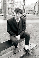 Montreal (Qc) CANADA - 1987 File Photo - - Robert Lepage Exclusive Photo in Carre SaintLouis, April 1987