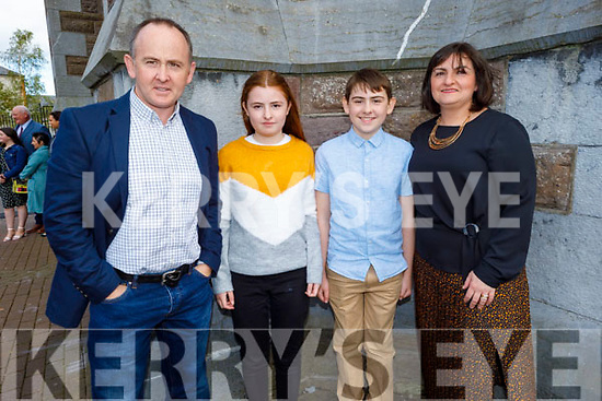 Sean (former student) and Sarah Fitzgerald current student of Derryquay NS receiving their Confirmation in St John's Church on Saturday with their parents John and Susanna Fitzgerald.
