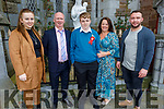 Shane O'Sullivan former student of Moyderwell NS now going to Mounthawk receiving his Confirmation in St Johns Church on Sunday. L to r: Caitlin, Shane, John, Nicola and Jared O'Sullivan.