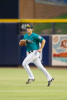 AZL Mariners right fielder Ryan Garcia (14) on defense against the AZL Royals on July 29, 2017 at Peoria Stadium in Peoria, Arizona. AZL Royals defeated the AZL Mariners 11-4. (Zachary Lucy/Four Seam Images)
