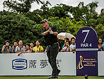 Participants in action during the Mission Hills World Celebrity Pro-Am at the Haikou's Mission Hills Resort on October 21, 2012, in China's province of Hainan. Celebrity participants include Oscar-winning actor Adrien Brody, Oscar-nominated actor Andy Garcia, Canadian film and television actor Ryan Reynolds, American actress Minka Kelly and Korea's top male movie star Jeong Woo-Seong. Photo by Xaume Olleros / The Power of Sport Images for Mission Hills