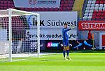 Fussball - 3.Bundesliga - Saison 2020/21<br /> Kaiserslautern -  Fritz-Walter-Stadion 03.04.2021<br /> 1. FC Kaiserslautern (fck)  - FC Halle (hal) 3:1<br /> Torwart Avdo SPAHIC (1. FC Kaiserslautern)<br /> <br /> Foto © PIX-Sportfotos *** Foto ist honorarpflichtig! *** Auf Anfrage in hoeherer Qualitaet/Aufloesung. Belegexemplar erbeten. Veroeffentlichung ausschliesslich fuer journalistisch-publizistische Zwecke. For editorial use only. DFL regulations prohibit any use of photographs as image sequences and/or quasi-video.