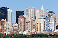 The Hudson River with the Manhattan skyline in the background