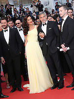 GEORGE CLOONEY AND HIS WIFE AMAL - RED CARPET OF THE FILM 'MONEY MONSTER' AT THE 69TH FESTIVAL OF CANNES 2016