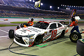 NASCAR XFINITY Series<br /> VisitMyrtleBeach.com 300<br /> Kentucky Speedway<br /> Sparta, KY USA<br /> Saturday 23 September 2017<br /> Kyle Benjamin, Hurricane Relief Toyota Camry pit stop<br /> World Copyright: Russell LaBounty<br /> LAT Images