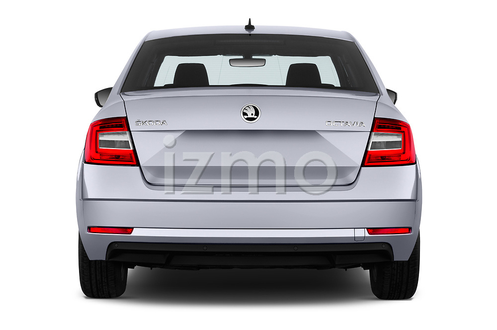 Straight rear view of a 2017 Skoda Octavia Ambition 5 Door Hatchback stock images