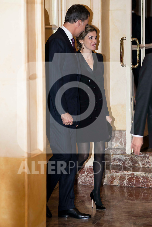 """King Felipe VI and Queen Letizia attend the delivery of the XXXII edition of the journalism award """" Francisco Cerecedo """" D. Felix Arzua at Ritz Hotel in Madrid, November 25, 2015<br /> (ALTERPHOTOS/BorjaB.Hojas)"""