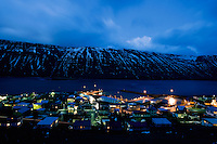 Suðureyri is a small (pop 300) village in the north west of Iceland. Seen from above