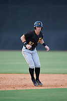 Pittsburgh Pirates third baseman Patrick Dorrian (67) leads off second base during a Florida Instructional League game against the New York Yankees on September 25, 2018 at Yankee Complex in Tampa, Florida.  (Mike Janes/Four Seam Images)
