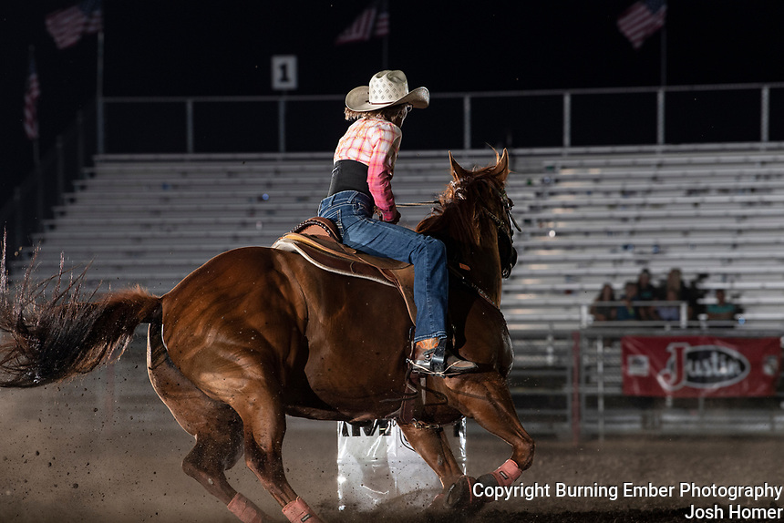 Gayleen Malone at the Last Chance Stampede slack perf 2021.  Photo by Josh Homer.  All rights reserved and copyrighted by Burning Ember Photography.  Photo Credit must be given on all uses.