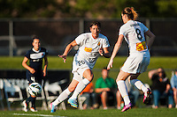 Western New York Flash forward Abby Wambach (20) pass the ball to forward Adriana Martin (8). The Western New York Flash defeated Sky Blue FC 3-0 during a National Women's Soccer League (NWSL) match at Yurcak Field in Piscataway, NJ, on June 8, 2013.