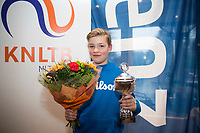 Hilversum, Netherlands, December 3, 2017, Winter Youth Circuit Masters, 12,14,and 16 years, 2 th place boys  12 years Ties de Regt<br /> Photo: Tennisimages/Henk Koster