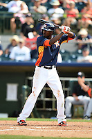 Houston Astros outfielder Dexter Fowler (21) during a spring training game against the Miami Marlins on March 21, 2014 at Osceola County Stadium in Kissimmee, Florida.  Miami defeated Houston 7-2.  (Mike Janes/Four Seam Images)