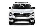 Car photography straight front view of a 2019 Skoda Kodiaq RS 5 Door SUV Front View