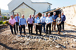 Crohan O'Shea turns the sod for Waterville's Mens Shed with building to commence on Monday next, pictured here l-r; Pat Everett, Tony Donnelly, Denis Fenton, Albert Walsh, Crohan O'Shea, Aidan McAuliffe, Owen O'Donnell(KETB), Alan McGuirk, Eugene Dennehy, Dannt Breen(National Men's Sheds), Niamh Dowling(KETB) & Brendan Mangan(Project Builder).  The Waterville Men's Shed Committee wish to acknowledge the huge contribution to all who have supported the project.