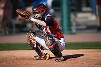 Chance Merithew (9) of Greenbrier High School in Goodlettsville, Tennessee during the Baseball Factory All-America Pre-Season Tournament, powered by Under Armour, on January 13, 2018 at Sloan Park Complex in Mesa, Arizona.  (Mike Janes/Four Seam Images)