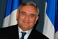 May 2003, Montreal, Quebec, Canada<br /> <br /> Jean-Pierre Raffarin , Prime Minister of France ), in Quebec City during  Raffarin visit to Canada in May 2003<br /> <br /> Mandatory Credit: Photo byRaffi Kirdi- Images Distribution. (©) Copyright 2003 by Raffi Kirdi<br /> <br /> NOTE : FRANCE OUT / More photos available on request