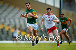 Jack Sherwood, Kerry, in action against Rory Brennan, Tyrone, during the Allianz Football League Division 1 Semi-Final, between Tyrone and Kerry at Fitzgerald Stadium, Killarney, on Saturday.