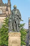 Europe, Great Britain, Scotland, Edinburgh, The Royal Mile, Statue of Adam Smith