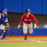 1 April 2016: Boston Red Sox infielder Brock Holt in action during a pre-season exhibition series between the Toronto Blue Jays and the Boston Red Sox at Olympic Stadium in Montreal, Quebec, Canada. The Red Sox defeated the Blue Jays 4-2 in the first of two MLB weekend games, which saw an attendance of 52,682 at the former home on the Montreal Expos. Mandatory Credit: Ed Wolfstein Photo *** RAW (NEF) Image File Available ***