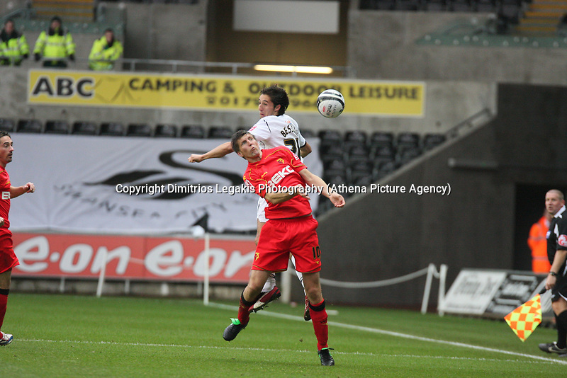 Pictured: Federico Bessone of Swansea City in action <br /> Re: Coca Cola Championship, Swansea City Football Club v Watford at the Liberty Stadium, Swansea, south Wales 09 November 2008.<br /> Picture by Dimitrios Legakis Photography (Athena Picture Agency), Swansea, 07815441513