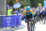 Vadim Pronskiy (KAZ) in the 2nd chase group into Harrogate for the first time during the Men U23 Road Race of the UCI World Championships 2019 running 186.9km from Doncaster to Harrogate, England. 27th September 2019.<br /> Picture: Eoin Clarke | Cyclefile<br /> <br /> All photos usage must carry mandatory copyright credit (© Cyclefile | Eoin Clarke)