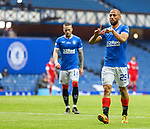 15.05.2021 Rangers v Aberdeen: Kemar Roofe scores goal no 3 and celebrates