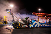Aug 30, 2019; Clermont, IN, USA; NHRA top fuel driver Leah Pritchett during qualifying for the US Nationals at Lucas Oil Raceway. Mandatory Credit: Mark J. Rebilas-USA TODAY Sports