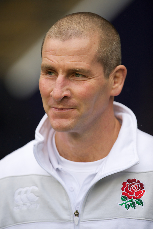 Stuart Lancaster, England Team Manager, looks rueful during the QBE Autumn International match between England and South Africa at Twickenham on Saturday 24 November 2012 (Photo by Rob Munro)
