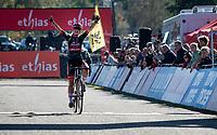 Denise Betsema (NED/Pauwels Sauzen - Bingoal) wins the Elite Women's Race of the 2021 UCI cyclo-cross World Cup - Zonhoven (BEL)<br /> <br /> ©kramon