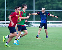 Juergen Klinsmann. The USMNT held practice at UMBC in Baltimore, MD in preparation for the quarterfinals of the CONCACAF Gold Cup.