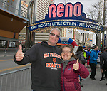 Gary and Diana Wright during the 6th Annual Reno 5000 Downtown River Run on Saturday, April 6, 2019.