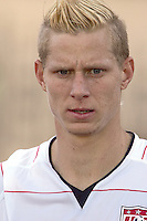 The United States' Brek Shea (20) takes the field before the FIFA Under 20 World Cup Group C Match between the United States and Germany at the Mubarak Stadium on September 26, 2009 in Suez, Egypt.