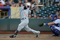 Reno Aces second baseman Tyler Bortnick #11 swings during the game against the Omaha Storm Chasers at Werner Park on August 3, 2012 in Omaha, Nebraska.(Dennis Hubbard/Four Seam Images)
