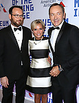 Dana Brunetti, Kristin Chenoweth and Kevin Spacey attends The Museum of Moving Image Award honoring Kevin Spacey at 583 Park on April 9, 2014 in New York City.