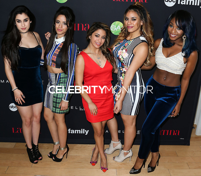 WEST HOLLYWOOD, CA, USA - NOVEMBER 13: Lauren Jauregui, Camila Cabello, Ally Brooke Hernandez, Dinah Jane Hansen, Normani Hamilton, Fifth Harmony arrive at the Latina Magazine's '30 Under 30' Party held at SkyBar at the Mondrian Los Angeles on November 13, 2014 in West Hollywood, California, United States. (Photo by Xavier Collin/Celebrity Monitor)