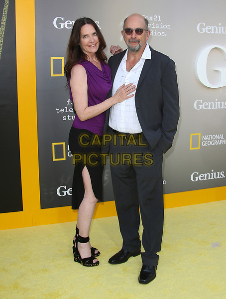 """WESTWOOD, CA - April 24: Sheiila Kelley, Richard Schiff, At National Geographic's Premiere Screening of """"Genius"""" At The Fox Theater, Westwood Village In California on April 24, 2017. <br /> CAP/MPI/FS<br /> ©FS/MPI/Capital Pictures"""