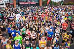 © Joel Goodman - 07973 332324. 15/10/2017 . Manchester , UK . Athletes at the start line , taking part in the Greater Manchester Half Marathon in Old Trafford . Photo credit : Joel Goodman