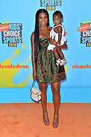 SANTA MONICA, USA. July 11, 2019: Gabrielle Union & Kaavia James Union Wade at Nickelodeon's Kids' Choice Sports Awards 2019 at Barker Hangar.<br /> Picture: Paul Smith/Featureflash