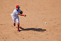 9 July 2017: Washington Nationals infielder Wilmer Difo gets the third out in the 8th inning against the Atlanta Braves at Nationals Park in Washington, DC. The Nationals defeated the Atlanta Braves to split their 4-game series. Mandatory Credit: Ed Wolfstein Photo *** RAW (NEF) Image File Available ***