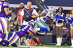 Dallas Cowboys running back Darren McFadden (20) in action during the pre-season game between the Minnesota Vikings and the Dallas Cowboys at the AT & T stadium in Arlington, Texas. Minnesota defeats the Cowboys 28 to 14.
