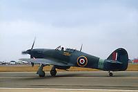 - Royal Air Force, Hurricane fighter aircraft of second World War....- Royal Air Force, aereo da caccia Hurricane della seconda Guerra Mondiale
