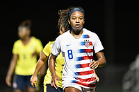 Lakewood Ranch, FL - Wednesday, October 10, 2018:   Trinity Byars during a U-17 USWNT match against Colombia.  The U-17 USWNT defeated Colombia 4-1.