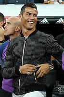 Real Madrid's Cristiano Ronaldo during the XXXVII Bernabeu trophy between Real Madrid and Stade de Reims at the Santiago Bernabeu Stadium. August 15, 2016. (ALTERPHOTOS/Rodrigo Jimenez) /NORTEPHOTO